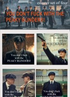 Cillian Murphy Peaky Blinder coaster set of four