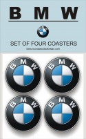 BMW Coaster set of 4
