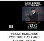 PEAKY BLINDERS FATHER'S DAY GREETING CARD