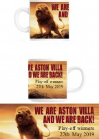 Aston Villa Commemorative Play Off Mug – WE ARE ASTON VILLA   AND WE ARE BACK!