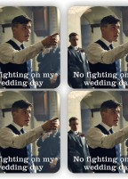 Peaky Blinders Wedding – COASTER SET OF 4