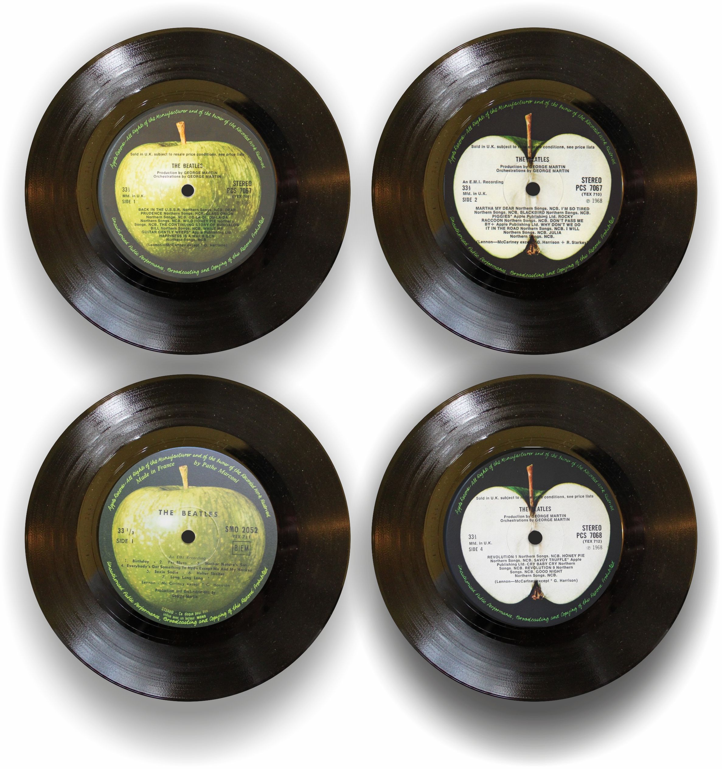 50 Years Of Fab Images: BEATLES 'WHITE ALBUM' COASTER SET OF FOUR » Roundabouts Of