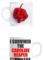 'I SURVIVED THE CAROLINE REAPER' ceramic mug