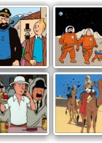 Tintin coaster set of four
