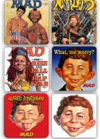MAD MAGAZINE COASTER SET OF SIX